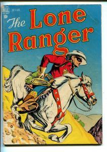 LONE RANGER #4-1948-DELL-WESTERN-RADIO-TV-SECRET IDENTITY-THRILLS-vg+