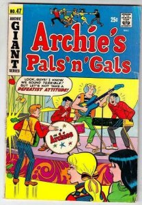 Archie's Pals 'n' Gals # 47 Strict VG+ Affordable-Grade Cover The Archies Wow