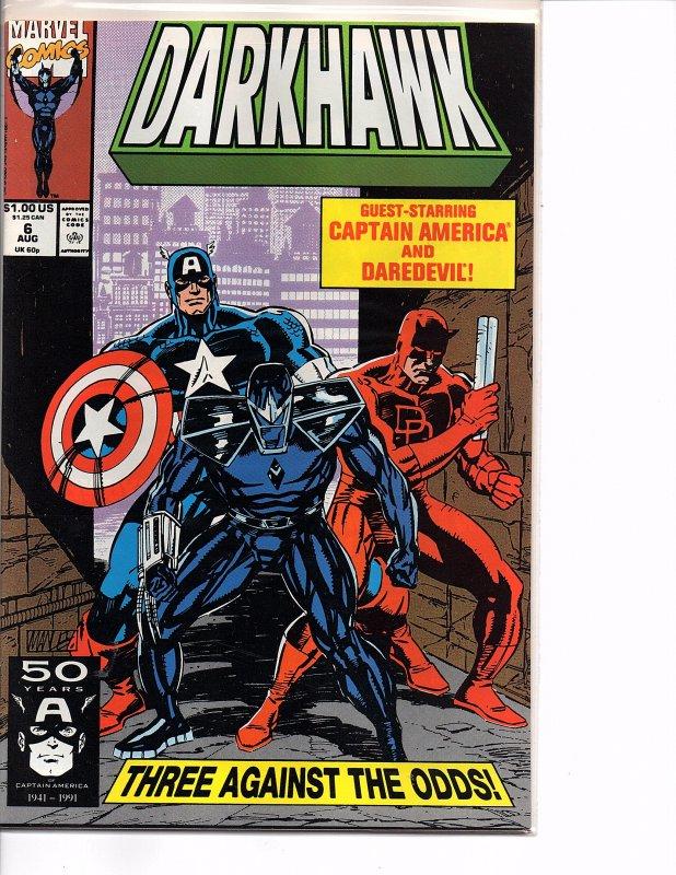 Marvel Comics Darkhawk #6 Captain America Daredevil NM