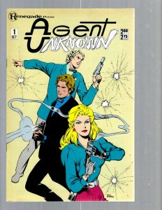 12 Comics Agent Unknown 1 Frisky Frolics 1 Holiday Out 1 Manimal 1 and more J420