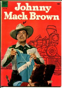 Johnny Mack Brown-Four Color Comics #493 1953-Dell-photo cover-B-Western-FN
