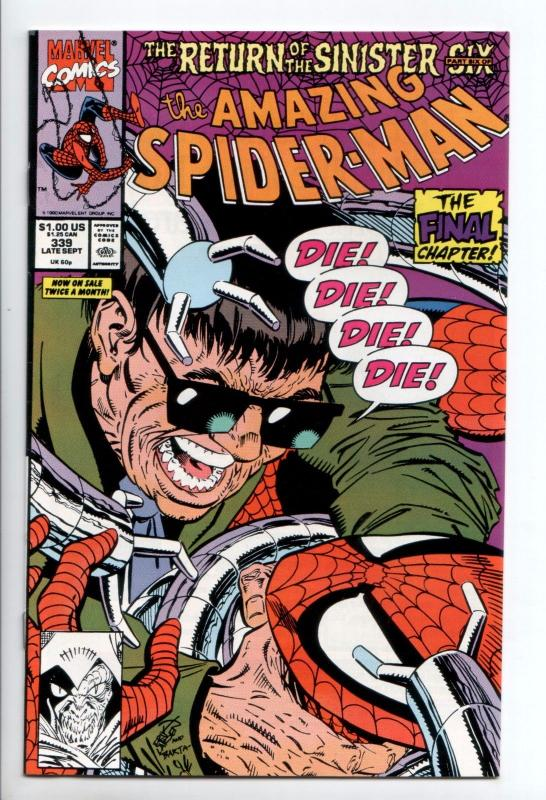 Amazing Spider-Man #339 - Return of the Sinister Six Part 6 (Marvel, 1990) NM-