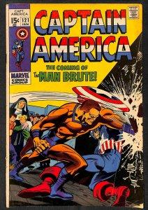 Captain America #121 VG- 3.5 Marvel Comics