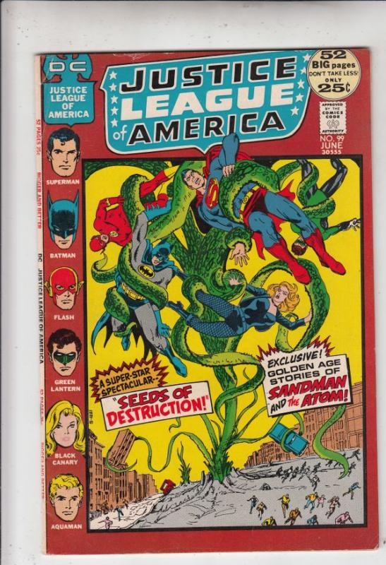 Justice League of America #99 (Jun-72) VF/NM High-Grade Justice League of Ame...