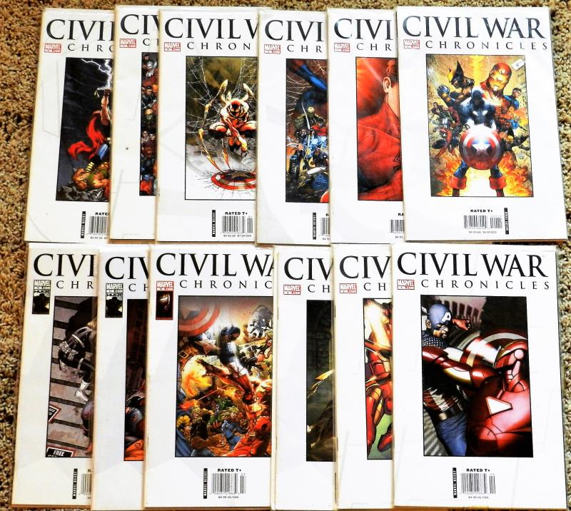 MARVEL CIVIL WAR CHRONICLES COLLECTION 1-12 HIGHER GRADE (CAPT. AMERICA MOVIE!!)