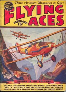 Flying Ace 2/1937-hero pulp-Buzz Benson-Al McWilliams-VG/FN