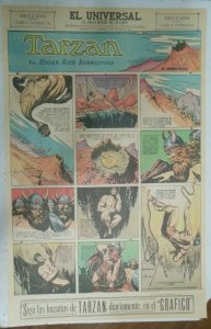 Tarzan Sunday Page #615 Burne Hogarth from 12/20/1942 in Spanish! Full Page Size