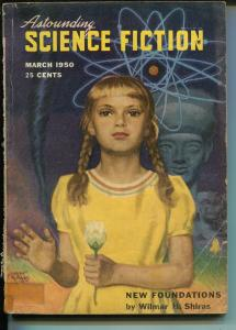 Astounding Science Fiction 3/1950-Street & Smith-L Ron Hubbard-pulp-P/FR