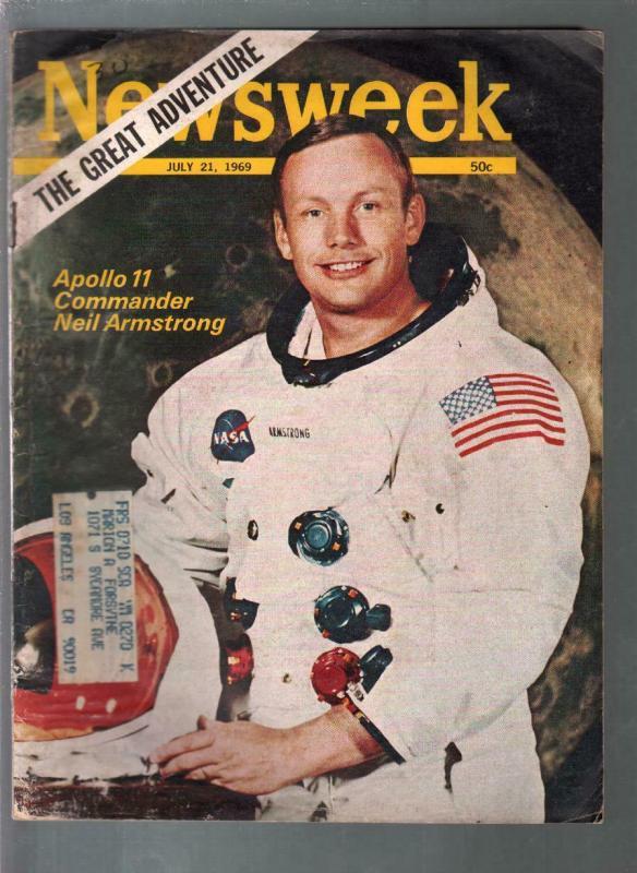 Newsweek 7/21/1969-Neil Armstrong-Apollo 11-NASA-G/VG
