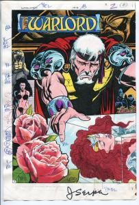 Warlord #126-2/1988-DC-Jerry Serpe-color guide-printers codes-signed-unique-VG