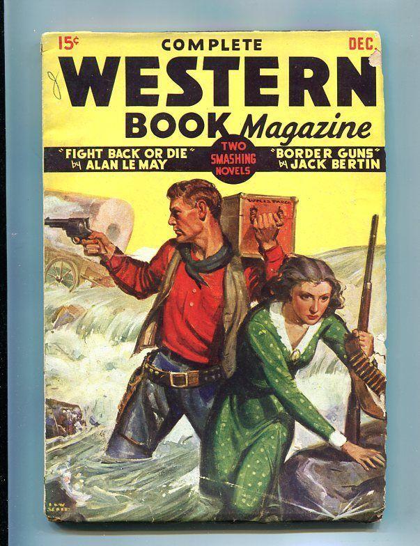 COMPLETE WESTERN PULP-DEC-1935-GUN GIRL-THRILLS & FUN! VG