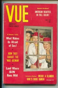Vue 9/1959-cheesecake-girl's dude ranch-showgirls,-pin-ups-Exploitation-sensa...