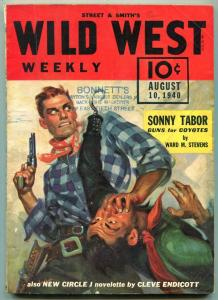 Wild West Weekly Pulp August 10 1940- Guns for Coyotes- Sonny Tabor VG