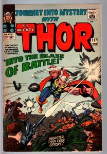 JOURNEY INTO MYSTERY #117--SILVER AGE MARVEL--THOR--JACK KIRBY FN