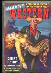 MAMMOTH WESTERN 02/1949-ZIFF-DAVIS-GOOD GIRL ART COVER-PULP THRIlLS-vg+