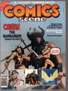 Comics Scene #5 1982-Burne Hogarth-Gene Colon-Herbie Moebius-VG/FN