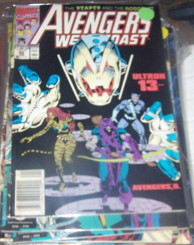 west coast avengers  # 66 JAN 1991   ULTRON 13 TIGRA HAWKEYE IRONMAN
