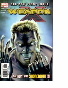 Lot Of 5 Weapon X Marvel Comic Book #1 2 3 4 5 KS6