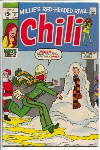 Chili #11 1970-Marvel-Stan Lee-Stan Goldberg-Good Girl Art-VG+