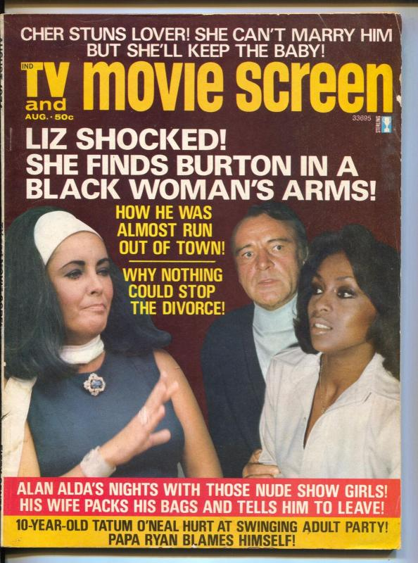 TV And Movie Screen-Liz Taylor-Richard Burton-Liza Minnelli
