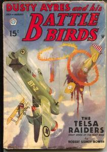Dusty Ayres and His Battle Birds 7/1935-fantasy air war pulp hero-VG