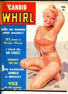 Candid Whirl #4 4/1953-cheesecake-Jeanne Ferguson-bondage-flying saucers-G-