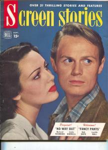 Screen Stories-Richard Widmark-Linda Darnell-Roy Rogers-James Cagney-Sept-1950