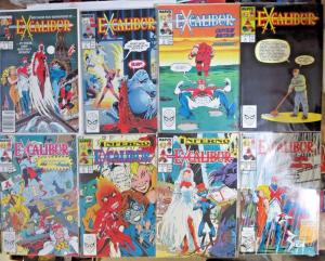 EXCALIBUR Lot of 76 books F-VF Captain Britain Psylocke Marvel Comics 1988-2004