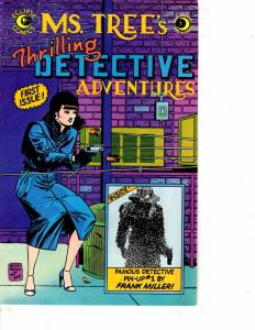Lot Of 9 Ms. Tree's Detective Adventures Eclipse Comic Books # 1-9 WT10