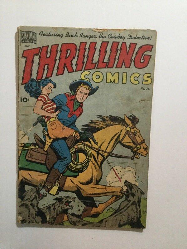 Thrilling Comics 74 Very Good- Vg- 3.5 Standard Comics