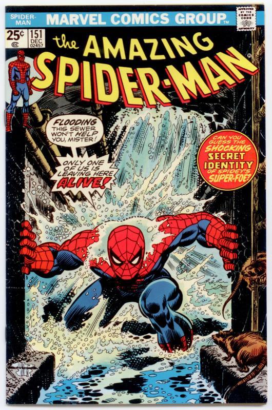 Amazing Spider-Man #151 VF+ 8.5  Spidey ditches clone body