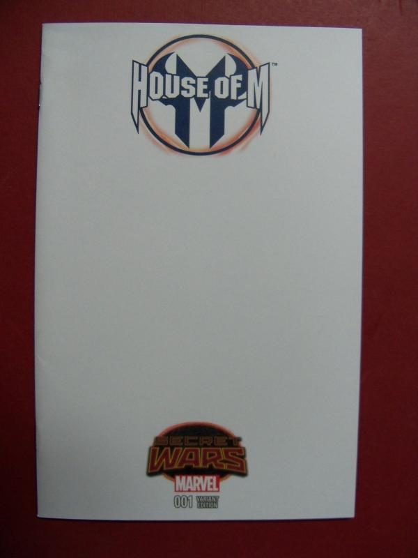 HOUSE OF M, SECRET WARS #1,   BLANK  VARIANT COVER, MARVEL