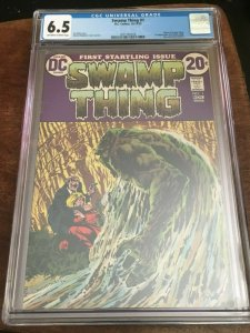 SWAMP THING #1 CGC 6.5 - FN+ FIRST APPEARANCE OF ALEC HOLLAND - BRONZE AGE KEY