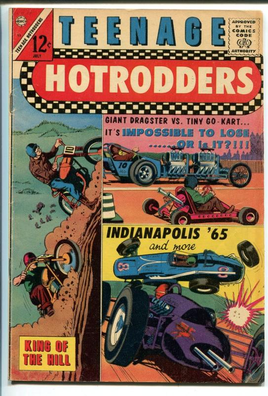 TEENAGE HOTRODDERS #13 1965-CHARLTON-MOTORCYCLE-DRAGSTER-GO-KART-vg+