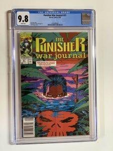 Punisher War Journal 21 Cgc 9.8 Wp Marvel Newsstand Edition
