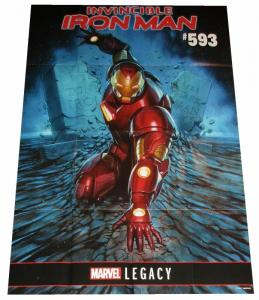 Marvel Legacy Iron Man #593 Folded Promo Poster (24 x 36) - New!