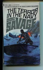 DOC SAVAGE-THE TERROR IN THE NAVY-#33-ROBESON- BAMA COVER-1ST ED VG/FN