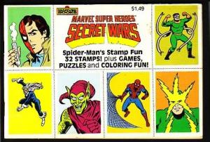 MARVEL SUPER HEROES SECRET WARS-STAMPS-GAMES-COLORING G