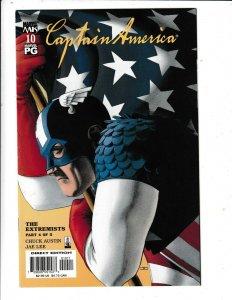CAPTAIN AMERICA #10 VF/FN  JAE LEE ARTWORK  MARVEL COMICS