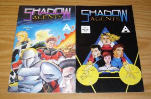 Shadow Agents #1-2 FN/VF complete series - armageddon press set super heroes lot