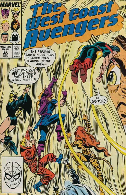 West Coast Avengers #32 VF/NM; Marvel   save on shipping - details inside