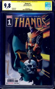 Thanos #1 CGC SS 9.8 signed Jeff Dekal PAINTED COVER NM/MT Avengers END GAME