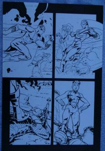 RICK LEONARDI / DEREK FRIDOLFS original art, SUICIDE SQUAD #23, Deadshot, 2014