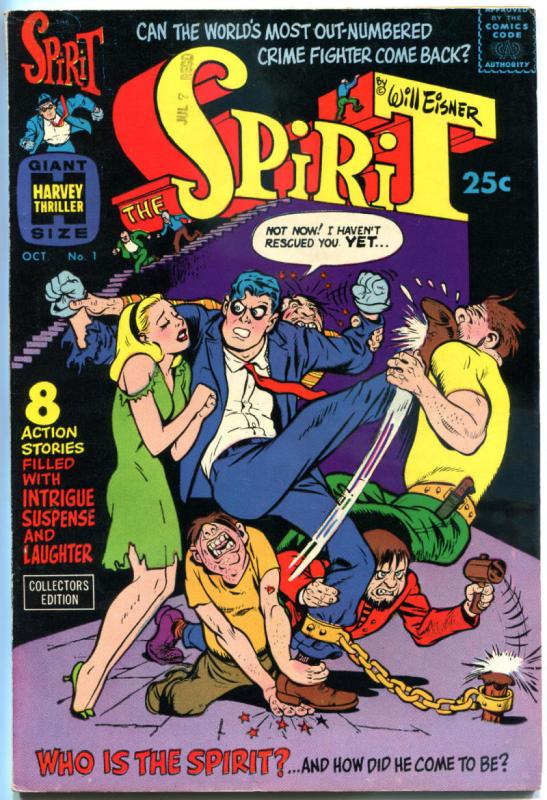 The SPIRIT #1, VF+, Will Eisner, Harvey, Giant Size, 1966, more Eisner in store