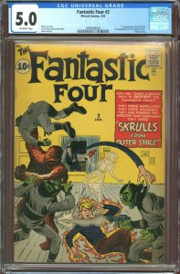 Fantastic Four #2 (1961) - Last 10 cent issue and 1st appearance of the Skrulls