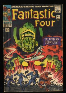 Fantastic Four #49 GD/VG 3.0 2nd Silver Surfer! 1st Full Galactus! Marvel Comics