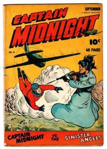 Captain Midnight #12 1943-Fawcett-Mac Raboy cover-WWII era thrills