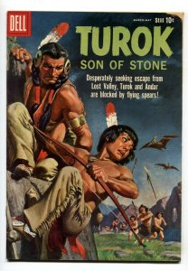 TUROK SON OF STONE #19-DELL-1960-DINSOSAUR COVER AND STORIES-