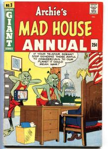 Archie's Mad House Annual #3-aliens-US Flag-US Capitol-Sabrina-G/VG