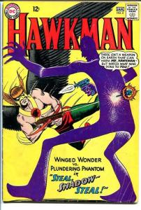 HAWKMAN #5 1964-2nd SHADOW THIEF-SILVER AGE DC COMICS VG